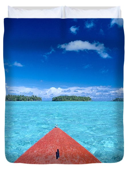 Bora Bora, View Duvet Cover by William Waterfall - Printscapes