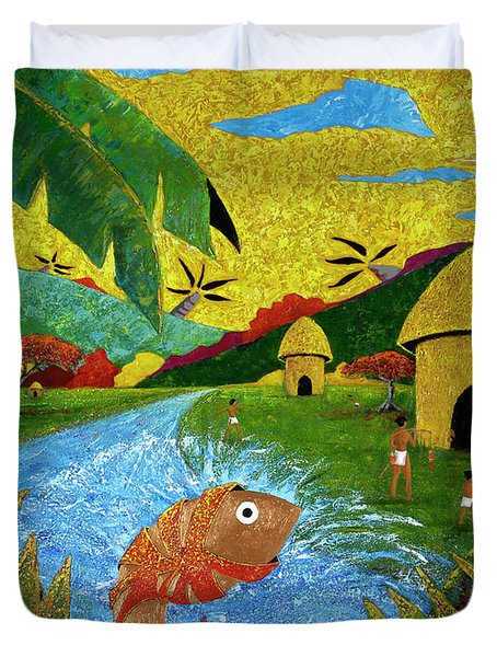 Boriken Duvet Cover by Oscar Ortiz