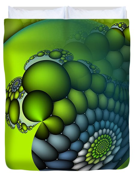 Born To Be Green Duvet Cover by Jutta Maria Pusl