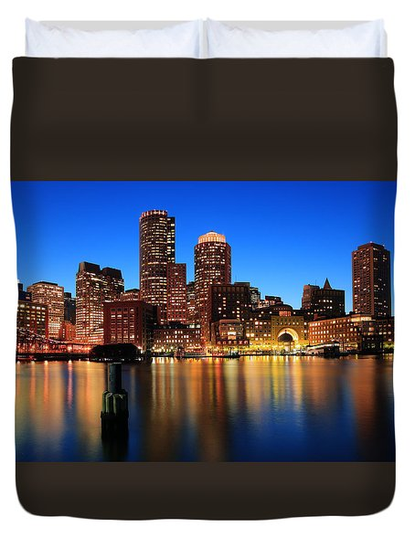 Boston Aglow Duvet Cover by Rick Berk