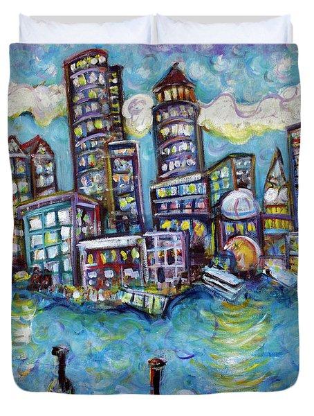 Boston Harbor Duvet Cover by Jason Gluskin