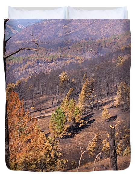 Boulder County Wildfire 5 Miles West Of Downtown Boulder Duvet Cover by James BO  Insogna