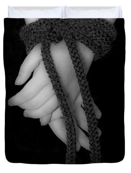 Bound Hands Duvet Cover by Joana Kruse
