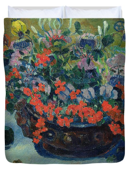 Bouquet Of Flowers Duvet Cover by Paul Gauguin