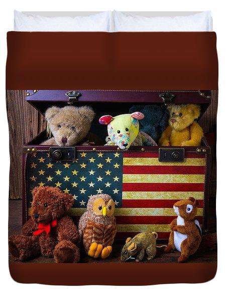 Box Full Of Bears Duvet Cover by Garry Gay