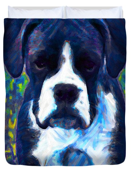 Boxer 20130126v5 Duvet Cover by Wingsdomain Art and Photography