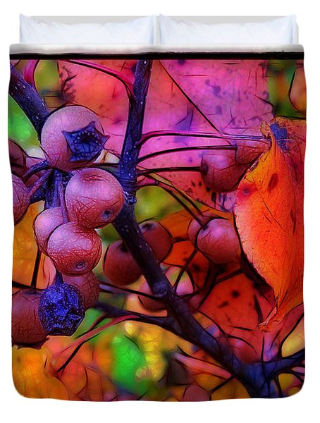 Bradford Pear in Autumn Duvet Cover by Judi Bagwell