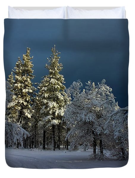 Break In The Storm Duvet Cover by James Eddy