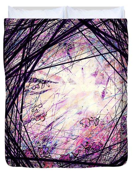 Breakdown Duvet Cover by Rachel Christine Nowicki