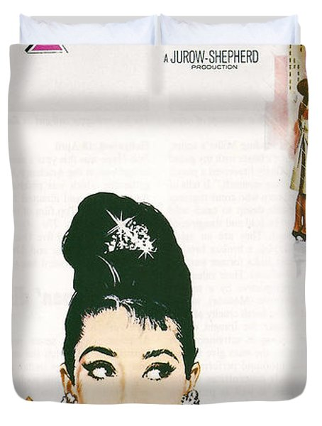 Breakfast At Tiffany's Duvet Cover by Georgia Fowler