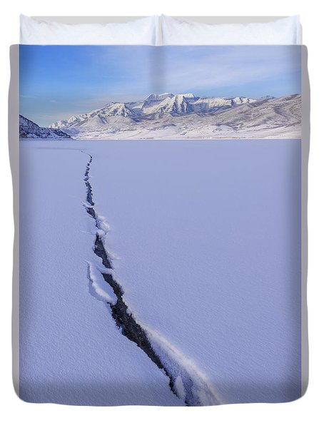 Breaking Ice Duvet Cover by Chad Dutson