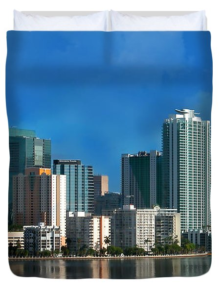 Brickell Skyline 2 Duvet Cover by Bibi Romer