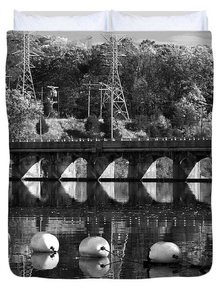 Bridge Reflection Duvet Cover by Karol Livote