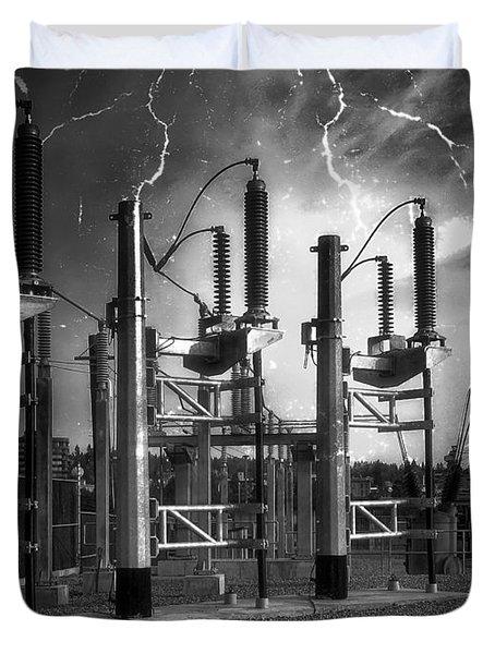 Bridge St Power Substation 2 - Spokane Washington Duvet Cover by Daniel Hagerman