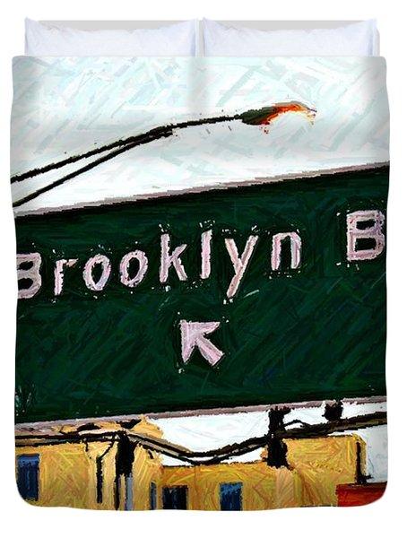 Bridge Thisaway Sketch Duvet Cover by Randy Aveille