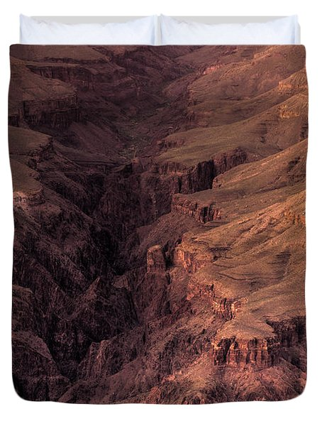 Bright Angel Canyon Grand Canyon National Park Duvet Cover by Steve Gadomski