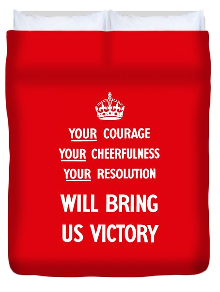 British Ww2 Propaganda Duvet Cover by War Is Hell Store