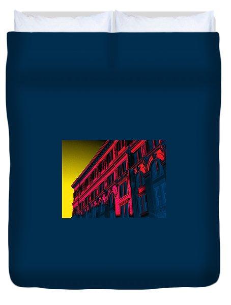 Broadway 118 In Fuschia Duvet Cover by Edgar Farrera