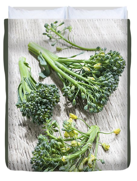 Broccoli Florets Duvet Cover by Elena Elisseeva