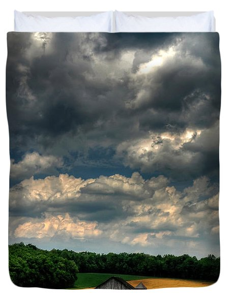 Brooding Sky Duvet Cover by Lois Bryan