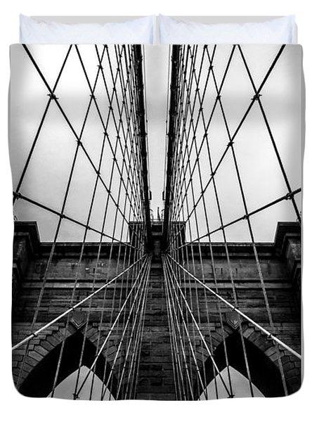 Brooklyn's Web Duvet Cover by Az Jackson
