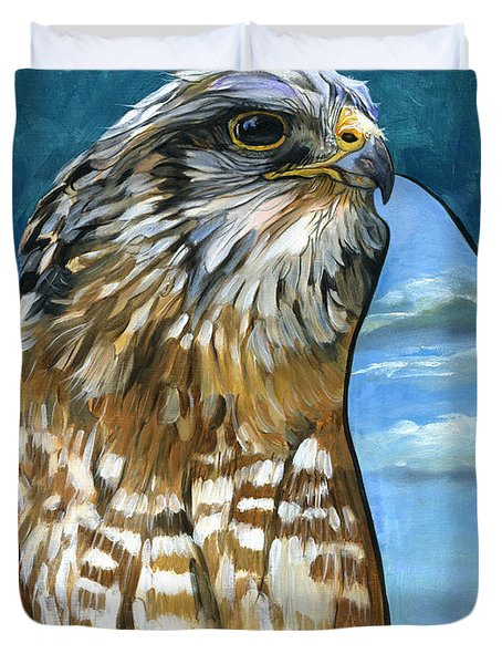 Brother Hawk Duvet Cover by J W Baker