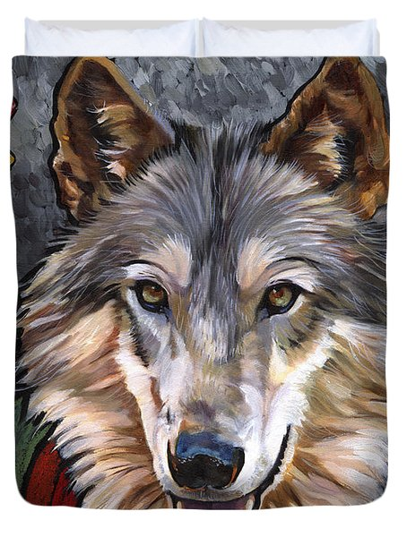 Brother Wolf Duvet Cover by J W Baker