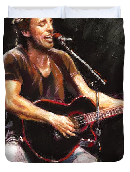 Bruce Springsteen  Duvet Cover by Ylli Haruni
