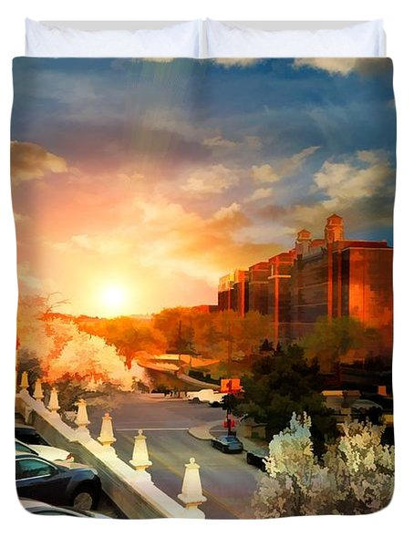 Brush Creek Kansas City Missouri Duvet Cover by Liane Wright