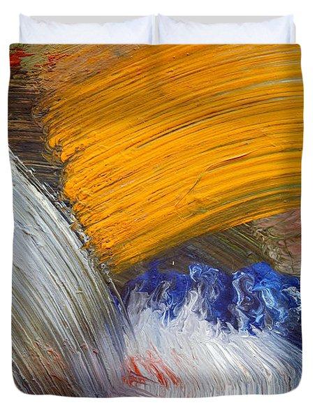 Brush Strokes Duvet Cover by Michal Boubin