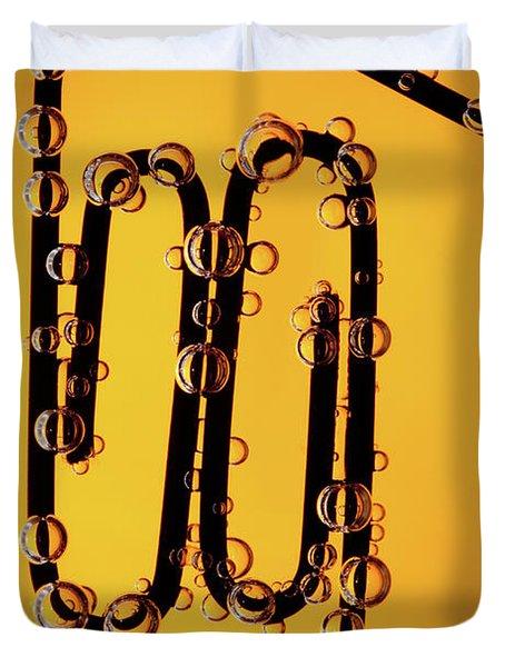 Bubble Race Duvet Cover by Marc Garrido