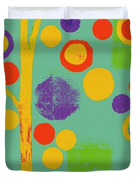 Bubble Tree - 290r - Pop 01 Duvet Cover by Variance Collections