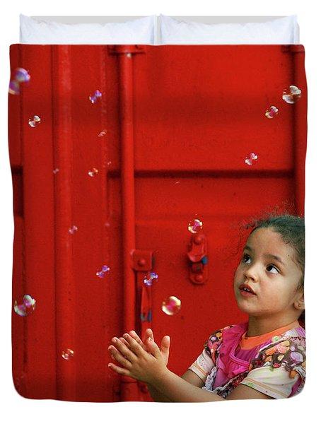 Bubbling Girl Duvet Cover by Aimelle