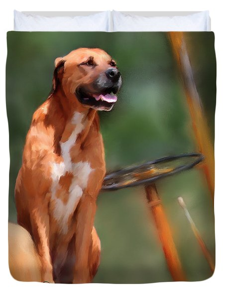 Buck Duvet Cover by Colleen Taylor