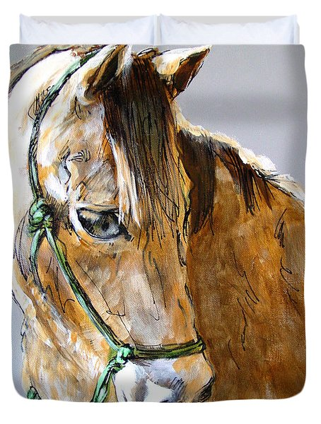 Buck of the Morgan Horse Ranch Point Reyes National Seashore Duvet Cover by Paul Miller