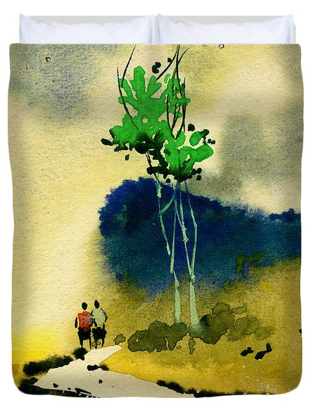 Buddies Duvet Cover by Anil Nene