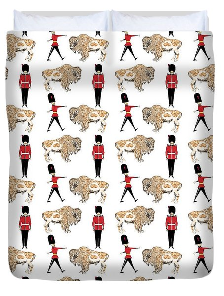 Buffalo Soldier Duvet Cover by Beth Travers
