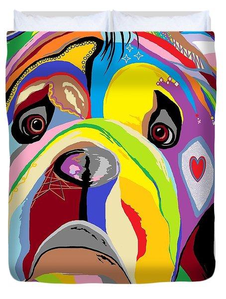 Bulldog Duvet Cover by Eloise Schneider