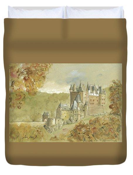 Burg Eltz Castle Duvet Cover by Juan Bosco