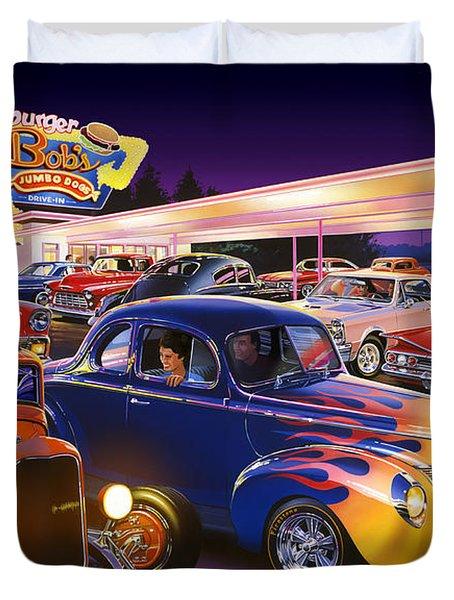 Burger Bobs Duvet Cover by Bruce Kaiser