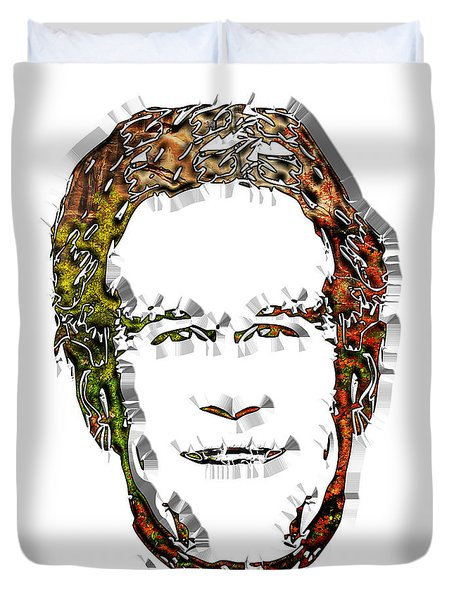 Bush George Duvet Cover by Dalon Ryan