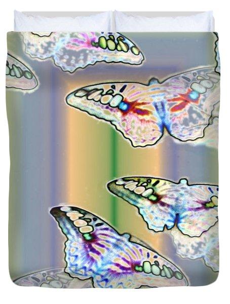 Butterflies In The Vortex Duvet Cover by Tim Allen