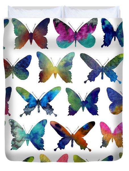 Butterflies Duvet Cover by Varpu Kronholm
