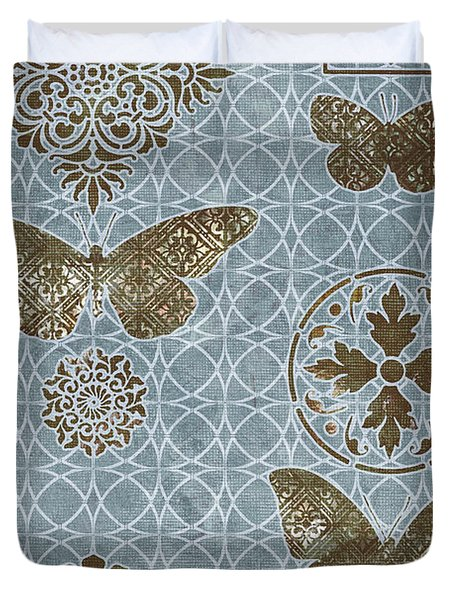 Butterfly Deco 1 Duvet Cover by JQ Licensing