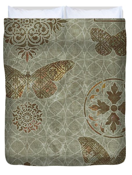 Butterfly Deco 2 Duvet Cover by JQ Licensing