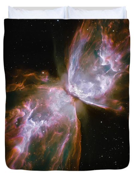 Butterfly Nebula Duvet Cover by The  Vault - Jennifer Rondinelli Reilly
