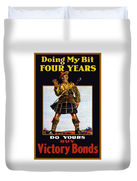 Buy Victory Bonds Duvet Cover by War Is Hell Store