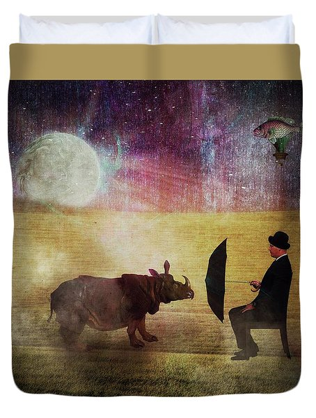 By The Light Of The Moon Duvet Cover by Terry Fleckney