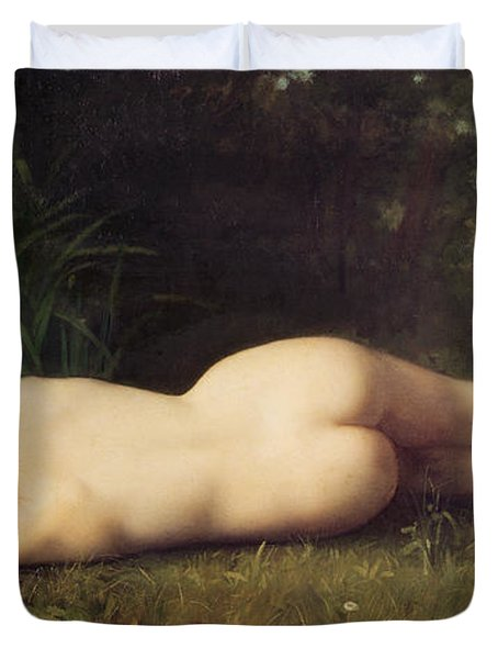 Byblis Turning Into A Spring Duvet Cover by Jean Jacques Henner