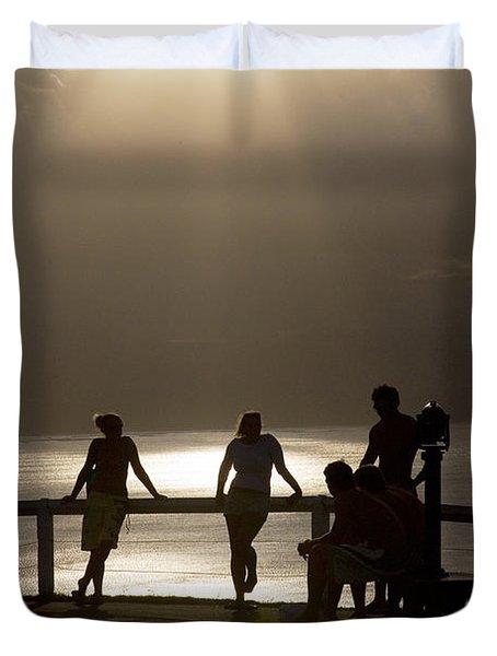 Byron Bay Lighthouse Duvet Cover by Avalon Fine Art Photography